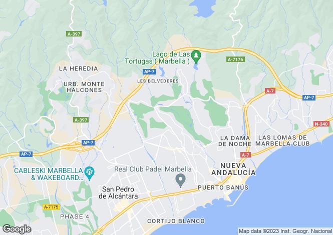 Map for La Corniche, Nueva Andalucia, Malaga, Spain