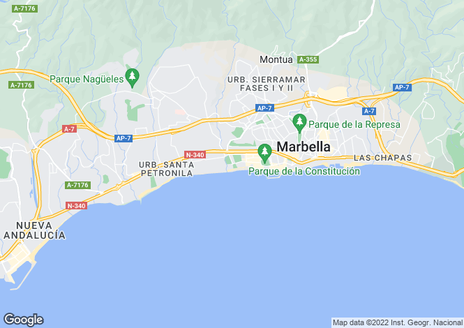 Map for Andalusia, Malaga, Marbella