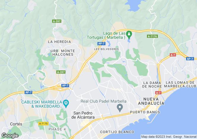 Map for Los Naranjos Golf, Nueva Andalucia, Malaga, Spain