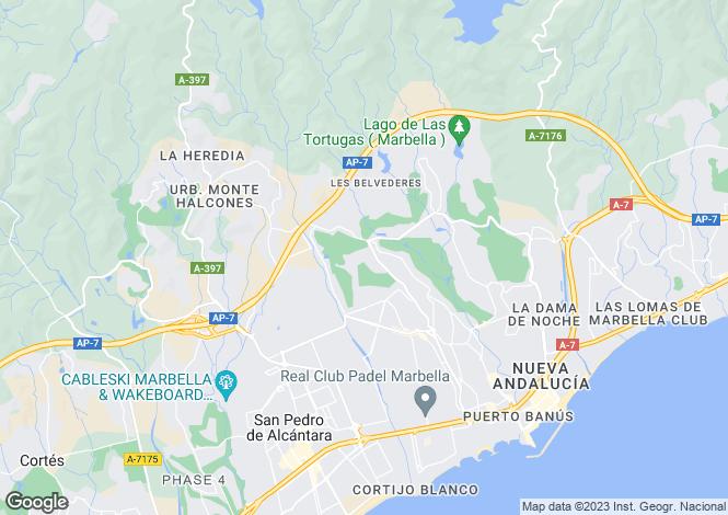 Map for Los Naranjos, Nueva Andalucia, Malaga, Spain
