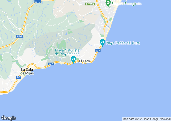 Map for Andalusia, Málaga, Mijas