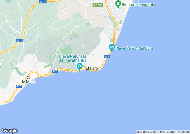 Map for Andalusia, Malaga, El Faro