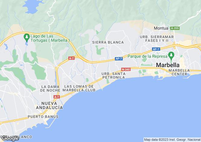 Map for Marbella Golden Mile, Malaga, Spain