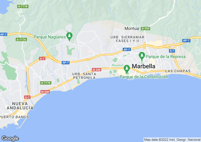 Map for Andalusia, Malaga, The Golden Mile