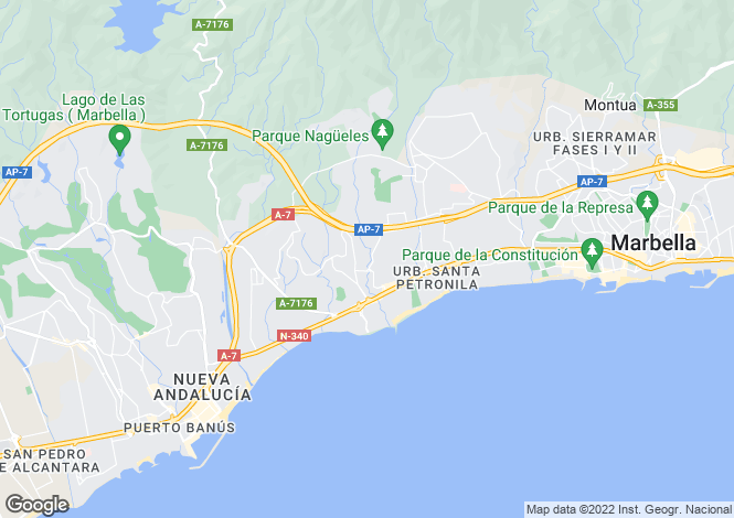 Map for Marbella, Málaga, Andalusia