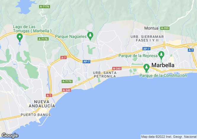 Map for Golden Mile, Málaga, Andalusia