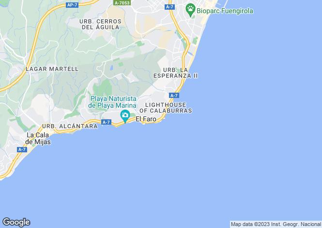 Map for Andalusia, Malaga, Mijas-Costa