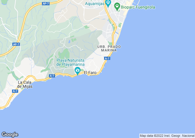 Map for Andalusia, Malaga, Fuengirola