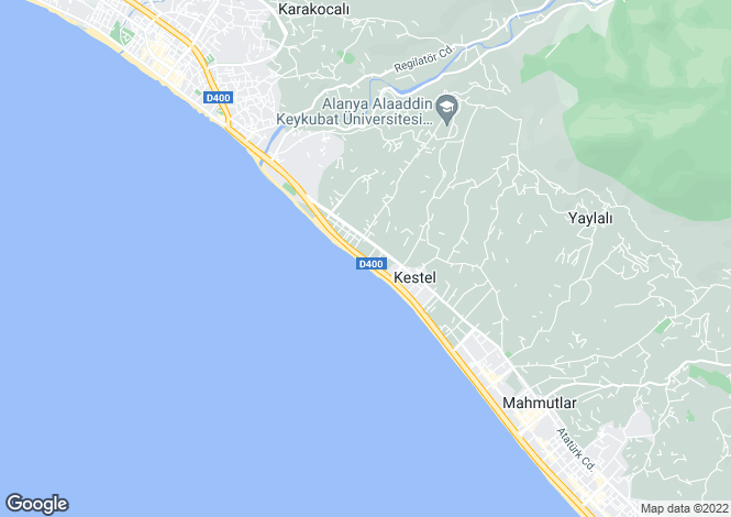 Map for Kestel, Alanya, Antalya