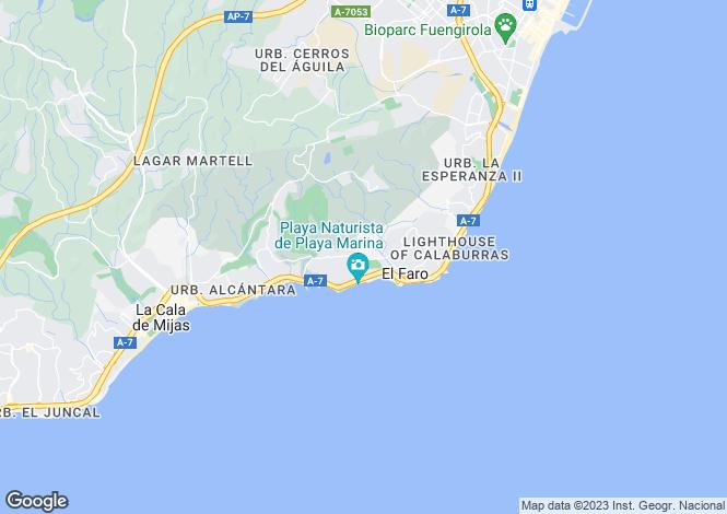 Map for El Chaparral, Málaga, Andalusia