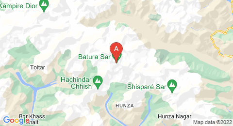 map of Batura Sar (Pakistan)