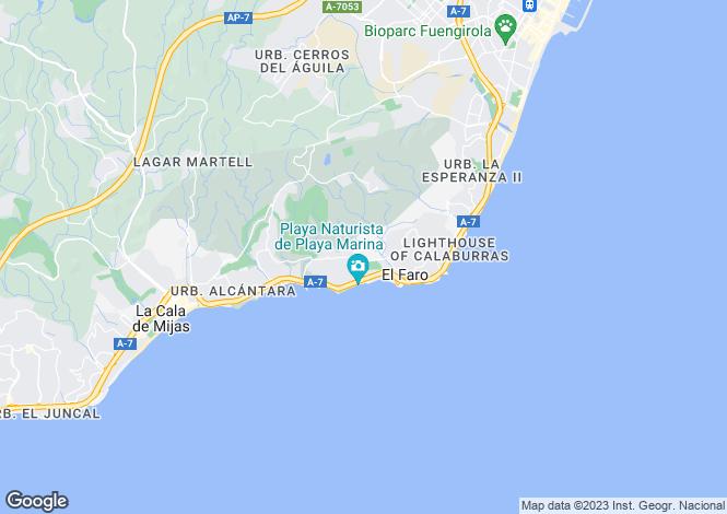 Map for Andalucia, Malaga, Mijas-Costa