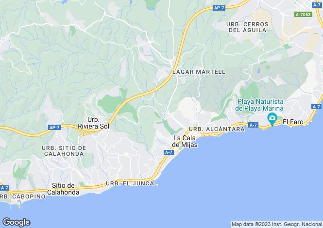 Map for Andalucia, Malaga, La Cala