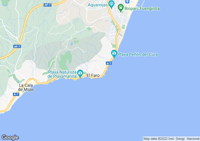 Map for La Cala de Mijas, Costa Del Sol, Spain