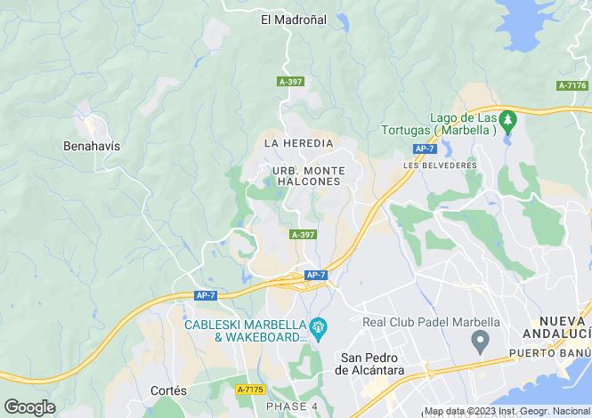 Map for Benahavis, Spain
