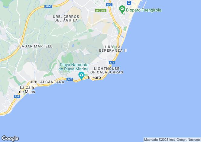 Map for Andalusia, Malaga, El Faro
