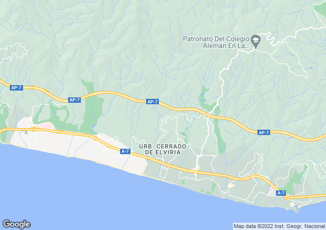 Map for Andalucia, Malaga, Elviria (Marbella)