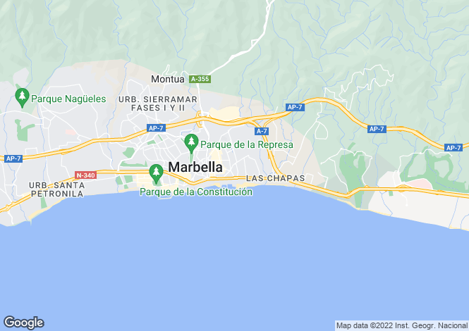 Map for Marbella Golden Mile, Malaga, Spain