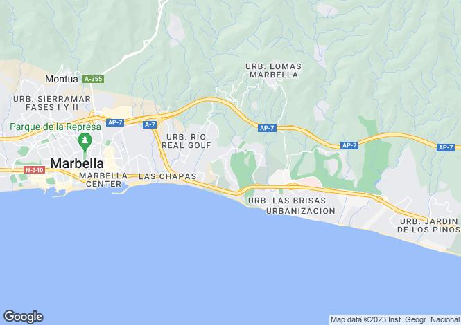 Map for Andalucia, Malaga, Rio Real