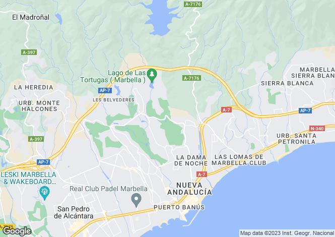 Map for Aloha, Andalucia, Spain