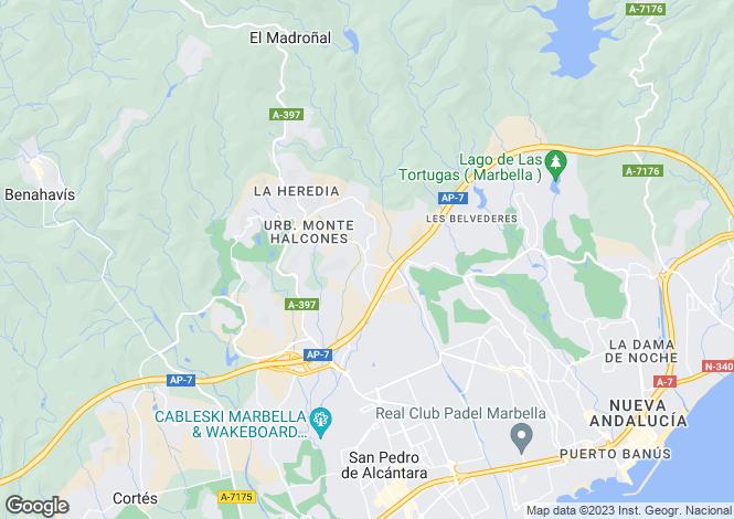 Map for Andalusia, Malaga, La Quinta