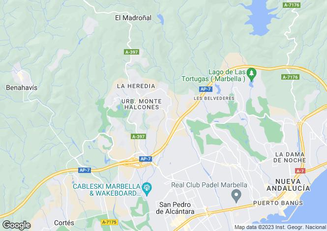 Map for El Herrojo Alto, La Quinta, Benahavis, Malaga