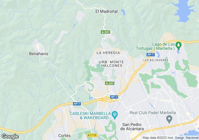 Map for Los Arqueros, Málaga, Andalusia