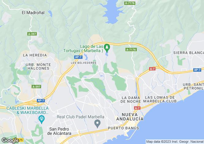 Map for Nueva Andalucia, Marbella, Spain