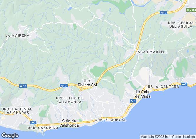 Map for La Cala De Mijas, Málaga, Andalusia