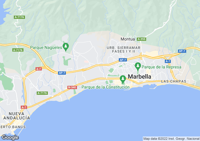 Map for Andalusia, M�laga, Marbella