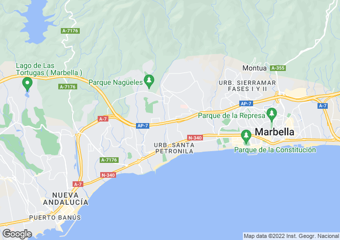 Map for Marbella, Spain