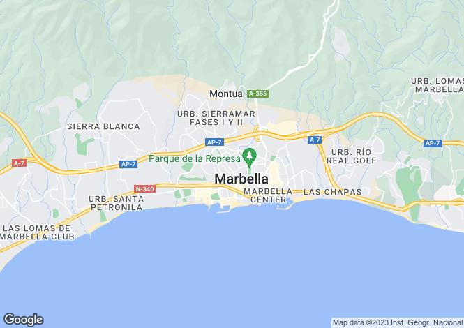 Map for Andalucia, Malaga, Miraflores
