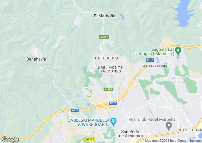 Map for Andalusia, Málaga, Los Arqueros