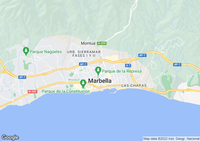Map for Marbella, Costa Del Sol, Spain