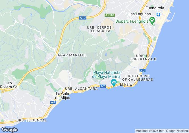 Map for Miraflores, Málaga, Andalusia