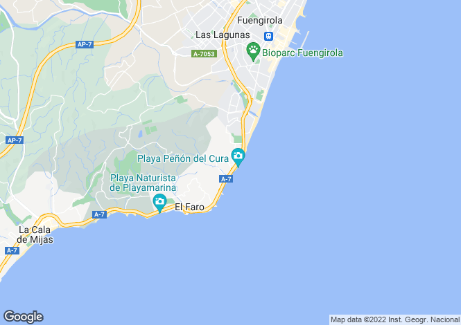 Map for Andalucia, Malaga, El Faro