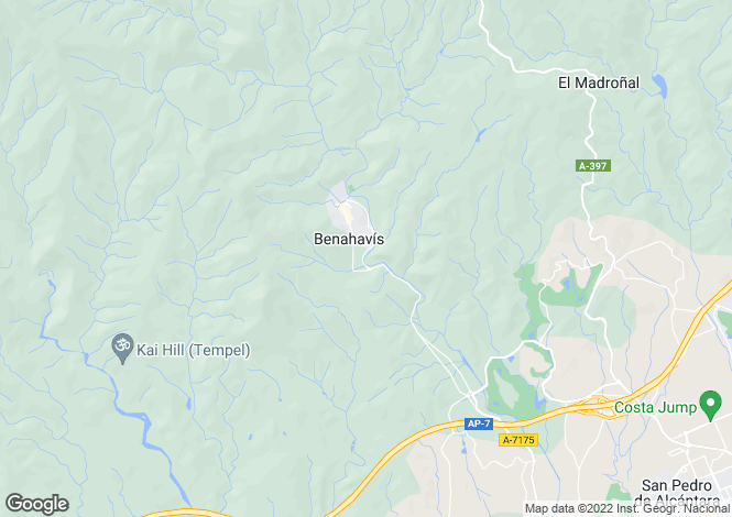 Map for Benahavis,Spain