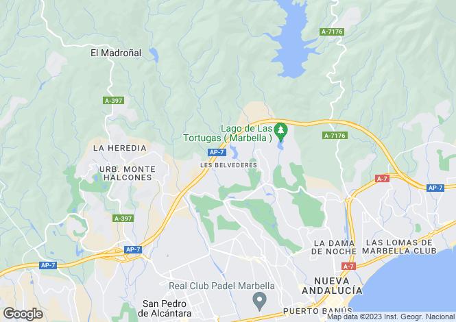 Map for Nueva Andalucia, Málaga, Andalusia