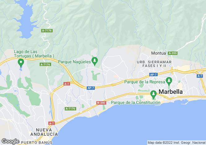 Map for Spain - Andalucia, Malaga, The Golden Mile