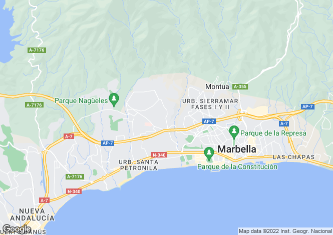 Map for Andalucia, Malaga, The Golden Mile
