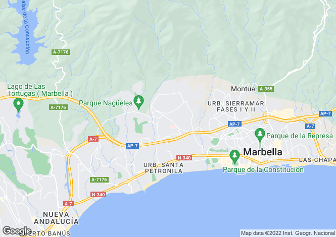Map for Mansion Club, Marbella Golden Mile, Malaga, Spain