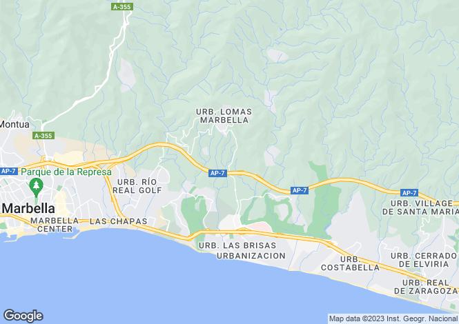 Map for Andalucia, Malaga, Altos de los Monteros