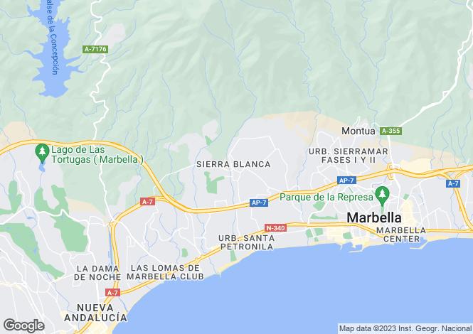 Map for Sierra Blanca, Marbella Golden Mile, Malaga, Spain