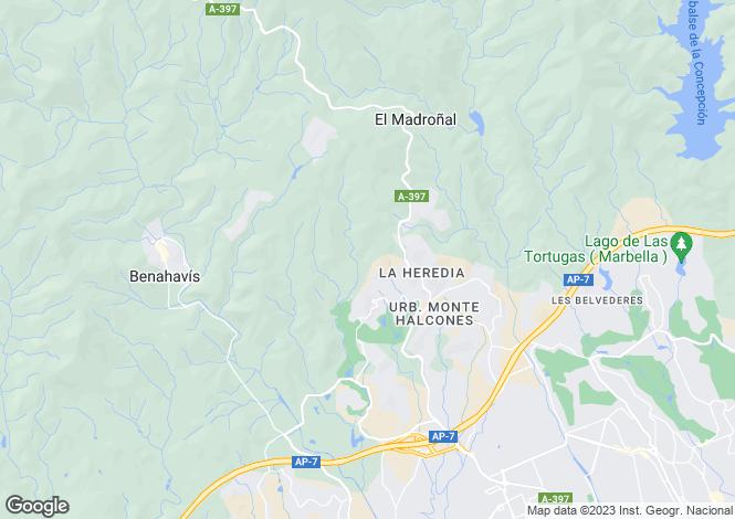 Map for Benahavis, Benahavis, Malaga, Spain