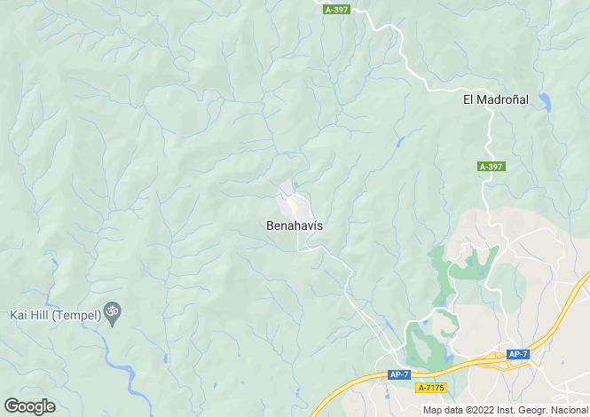 Map for Benahavis, Andalucia, Spain