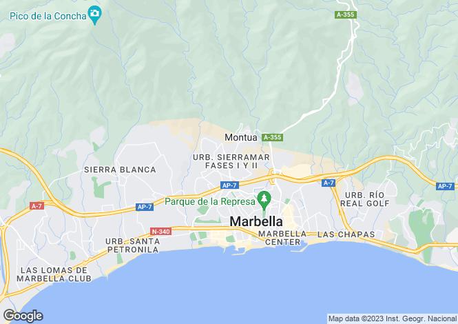 Map for Marbella, Malaga, Spain