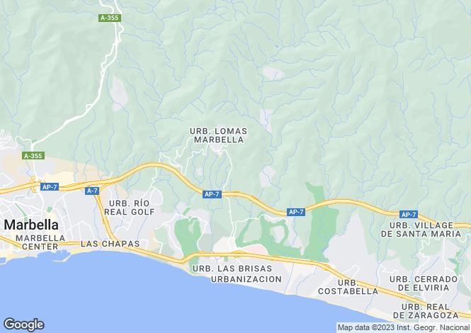 Map for Andalusia, Málaga, Marbella