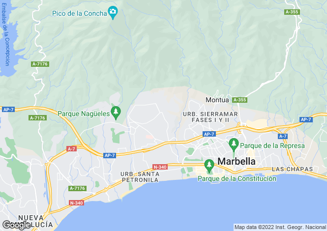 Map for Andalucia, Malaga, Marbella