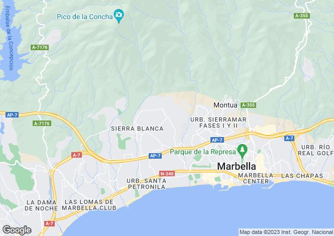 Map for Andalucia, Malaga, Sierra Blanca