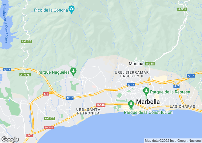 Map for Sierra Blanca, Andalucia, Spain